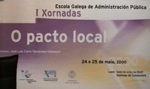 I Xornadas sobre o Pacto Local